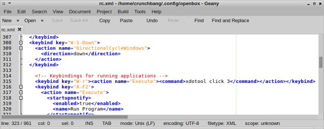 Modified Openbox congif file
